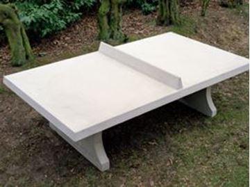 Afbeelding van Tafeltennis beton recht naturel