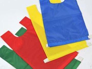Afbeelding van overgooiers - nylon - elastiek - L - geel