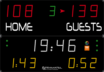 Afbeelding van Elektronisch scorebord multisport SUPER PRO