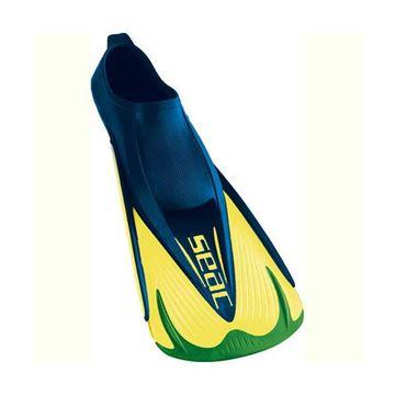 Afbeelding van Zwemvliezen Seac Team fins kort groen/blauw/rood 44-45